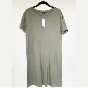 NWT Splendid Supersoft Army Green T-shirt Dress